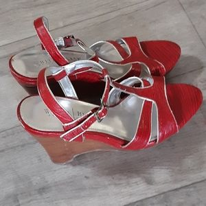 Womens Red Strappy High heel Sandles Shoes